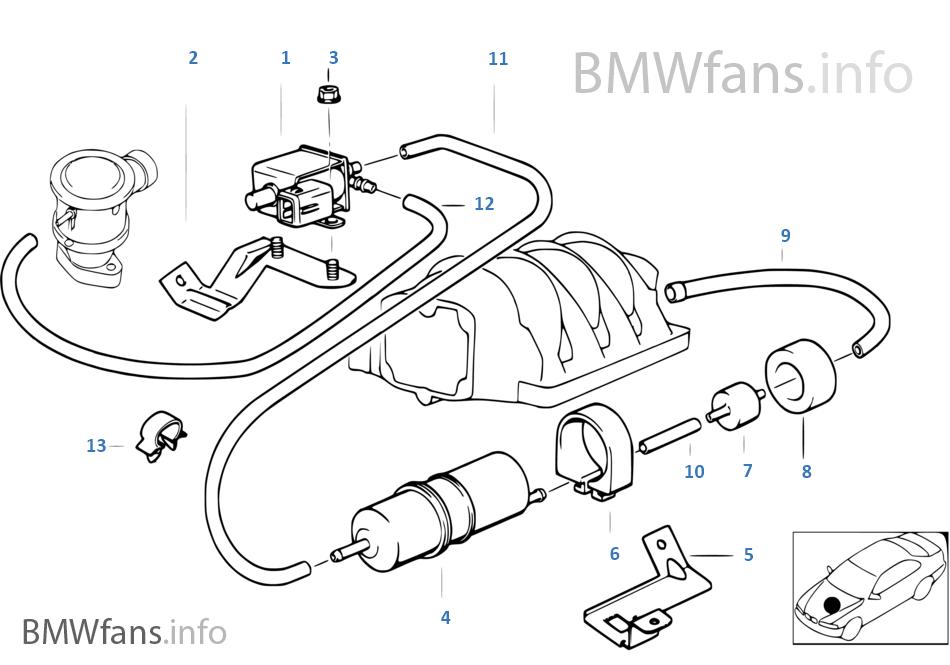 E39 540i Engine Vacuum Diagram