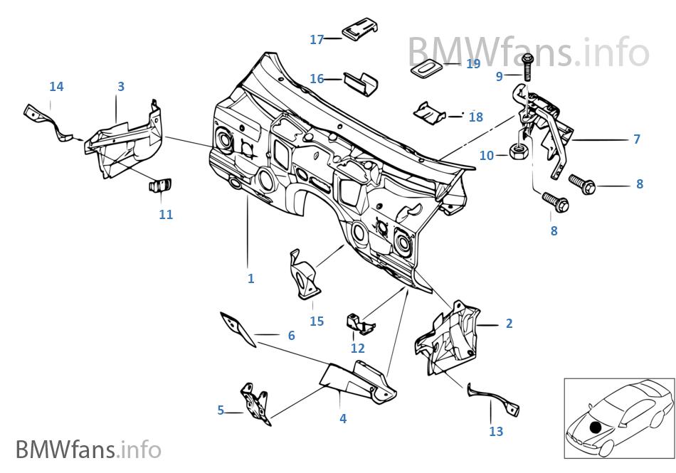 Motor bölme duvarı, Münferit parçalar