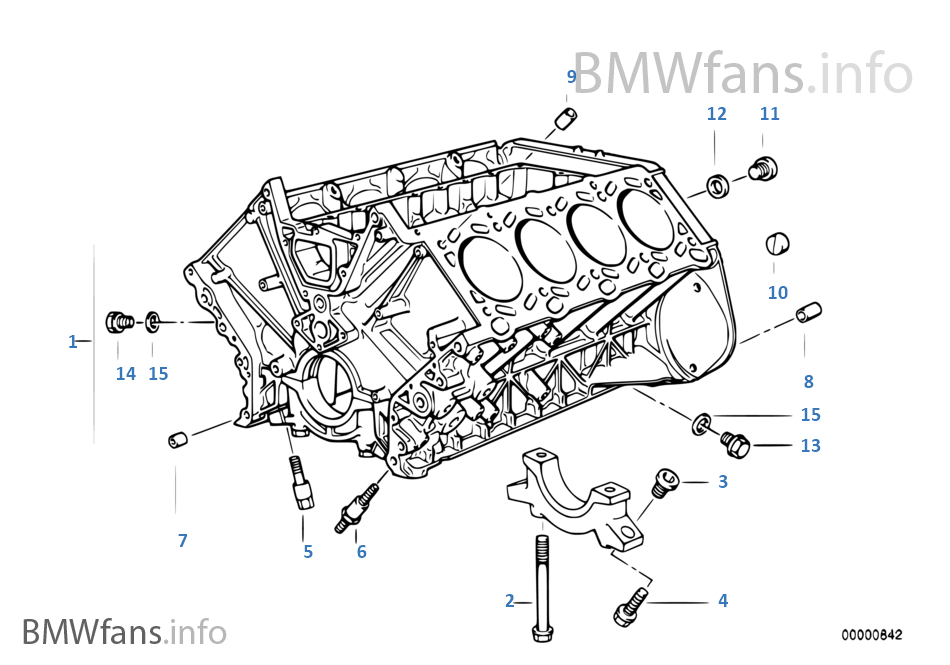 Engine block | BMW 5' E34 540i M60 Europe | Bmw M60 Engine Diagram |  | BMWfans.info