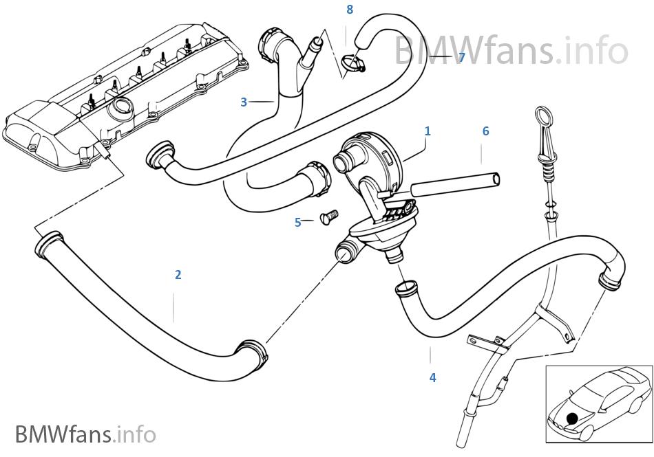 Crankcase-Ventilation/oil separator