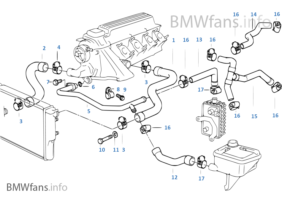 1997 bmw 318i cooling system diagram