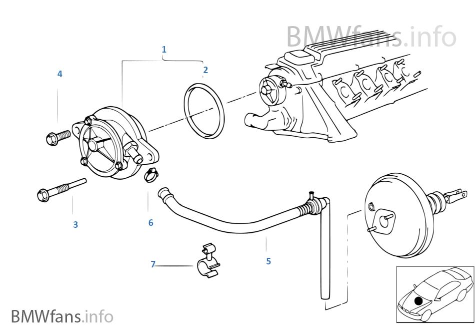 vacuum pump with tubes bmw 3 e36 318tds m41 europe rh bmwfans info 318 Dodge Engine System Diagram 318 Dodge Engine System Diagram