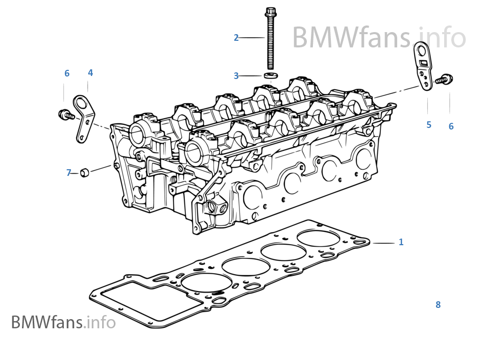 Cylinder Head Attached Parts | BMW 5' E34 540i M60 USA