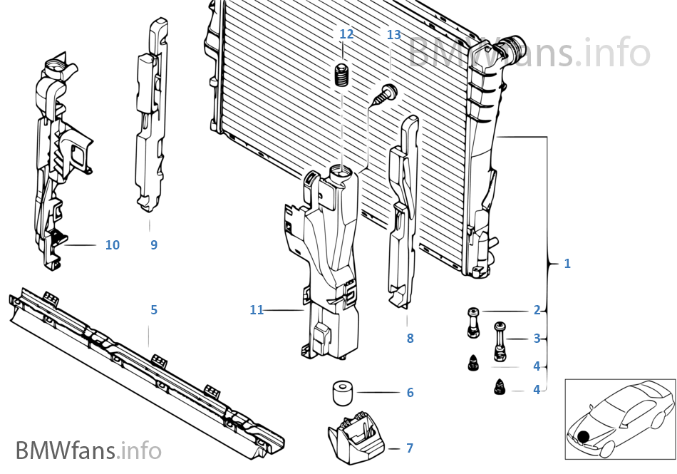Mounting_parts_f_radiator on Bmw E46 Cooling System Diagram