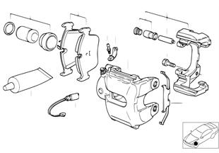 前輪制動器制動摩擦片傳感器
