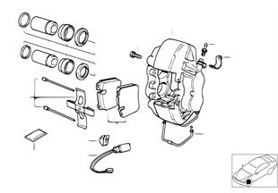 Sensor pastilha de travão roda diant.