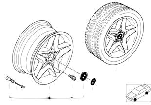 Л/с диск BMW со звездообраз.спицами 74