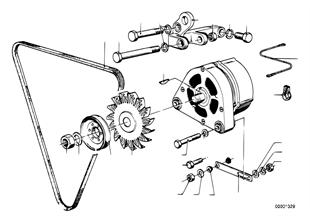 Элементы крепления генератора