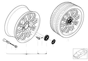 BMW alloy wheel, M double spoke 67