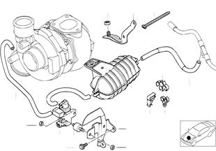 Comando a depressione-motore-turbo comp.