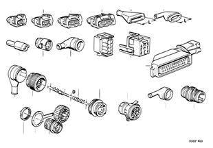 Conector de ficha de cabos