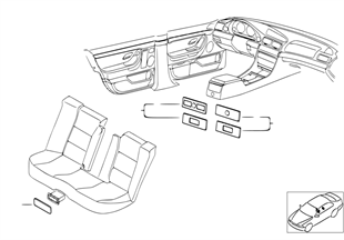Individualholz Mittelkonsole/Dosenhalter