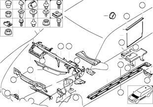 Pcs de carrosserie/plancher/comp.moteur