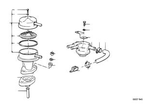 Alimentazione carburante/pompa/filtro