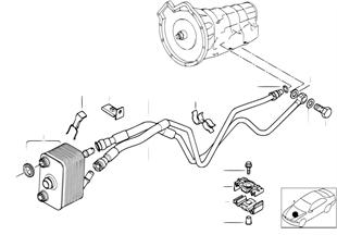 Трубопровод масл.радиатора/теплообменник
