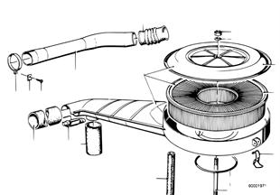 Tlumič hluku sání/vložka filtru