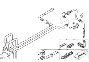 Brzdové potrubí zadní protipr. regulace