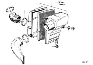 Tłumik szmerów ssania/wkład filtra