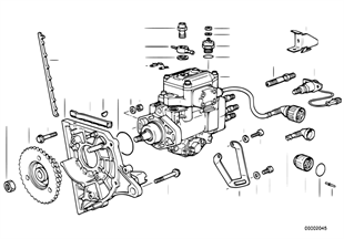 Injection pump/bearing support diesel