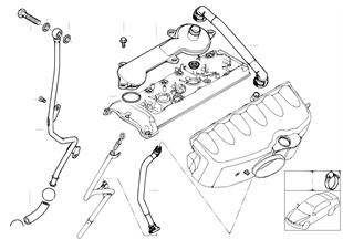 Kliková skříň-ventilace/odlučovač oleje