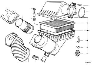 Ansauggeräuschdämpfer/Filtereinsatz