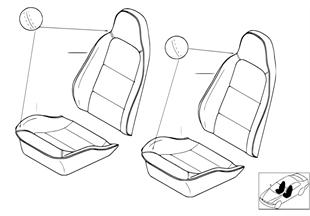 個性化標準座椅座墊 / 鑲邊