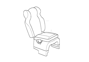 Child seat-integrated accessory