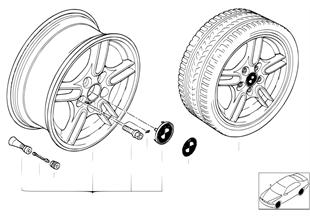 BMW LA wheel, M parallel spoke 66