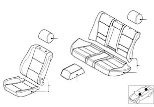 Potah sedadlo jehněčí kůže