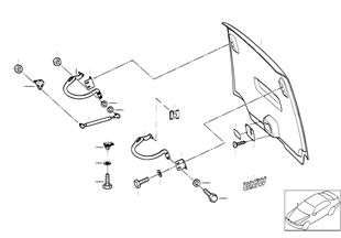 Hood parts, rear door