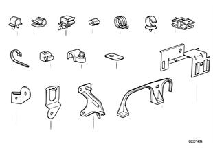 Cablagem — peças de fixação