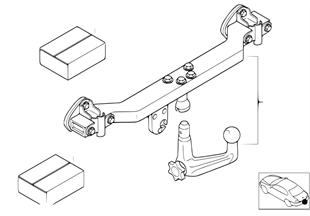 Retrofit kit, towing hitch detachable