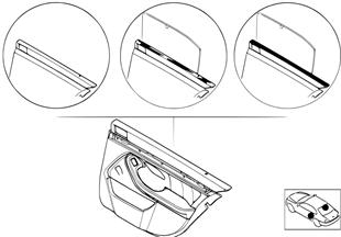 個性化車門飾件 皮革 / 安全氣囊 後部