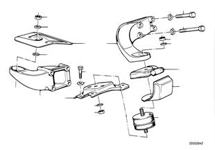 Uložení motoru/tlumič motoru