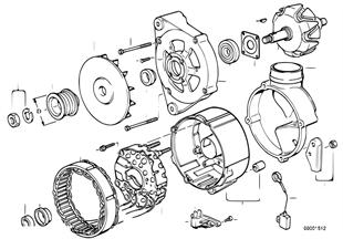 Elementy pojedyncze prądnicy 90A