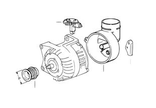 발전기,개별 부품,140A