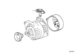 Alternator, individual parts 70A