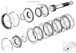 Zf 4hp22/24 drijfkoppeling e