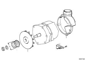 Elementy pojedyncze prądnicy 105A