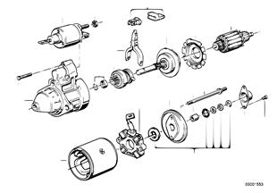 Startmotor onderdelen 1, 4kw