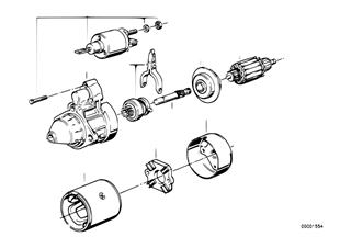 Marş motoru, Münferit parçalar 2, 2kW