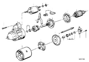 Marş motoru, Münferit parçalar 1, 4kW