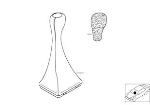Retrofit, wooden gearshift knob
