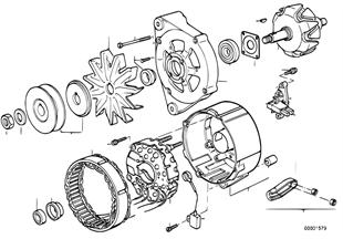 발전기,개별 부품,90A