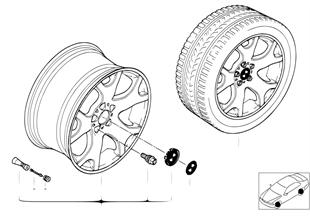 Л/с диск BMW с V-образными спицам 63