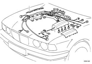 蓋板 引擎電線束