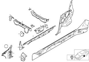 Seitengerippe Einzelteile