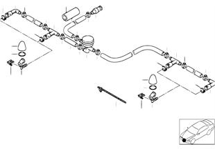 Детали системы омывателей фар