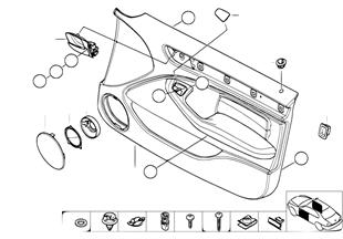 Revêtement de porte avant/airbag latéral
