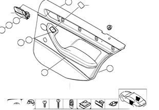 車門飾件 後部-側面安全氣囊
